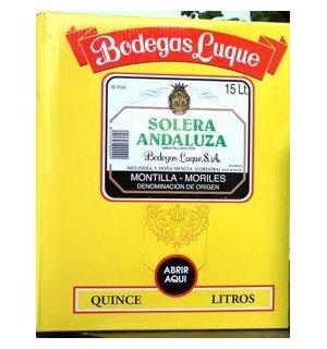 VINO SOLERA ANDALUZA BAG 15 L