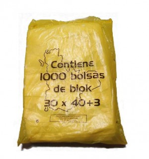 BOLSAS BLOC VAR. MARCAS 30*40 1000 UN
