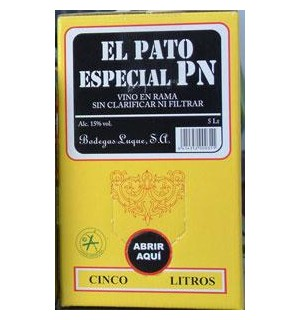 VINO FINO EL PATO PN EN RAMA BAG 5 L