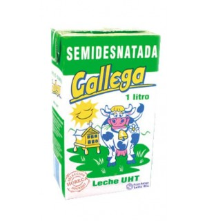 LECHE GALLEGA SEMIDESNATADA BK. 1 L