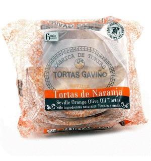 TORTAS A.GAVIÑO NARANJA 6 UN. 180 GR