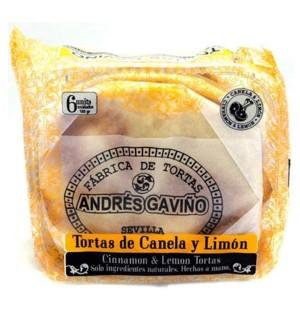 TORTAS A.GAVIÑO CANELA-LIMON 6 UN.180 GR